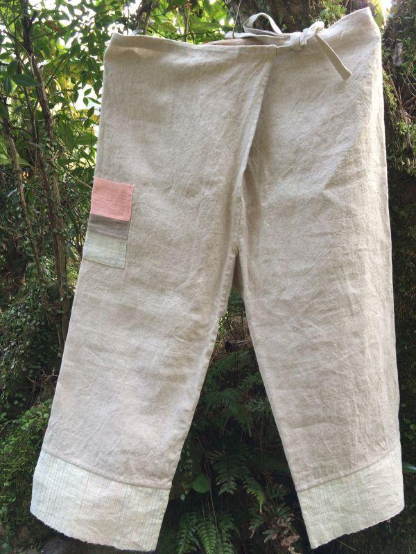 画像1: ひも式麻パンツ
