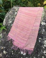 絹手紡ぎストールF
