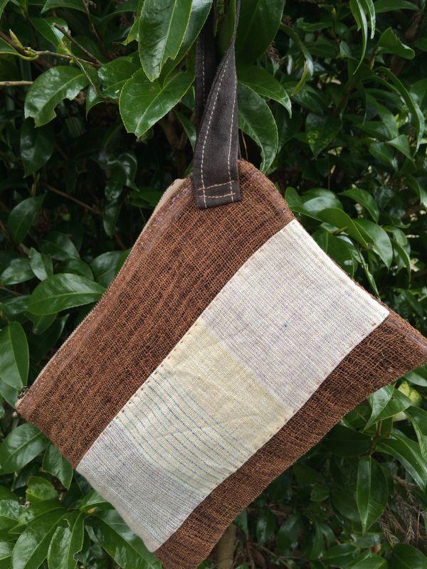画像1: ヘンプセカンドバッグ