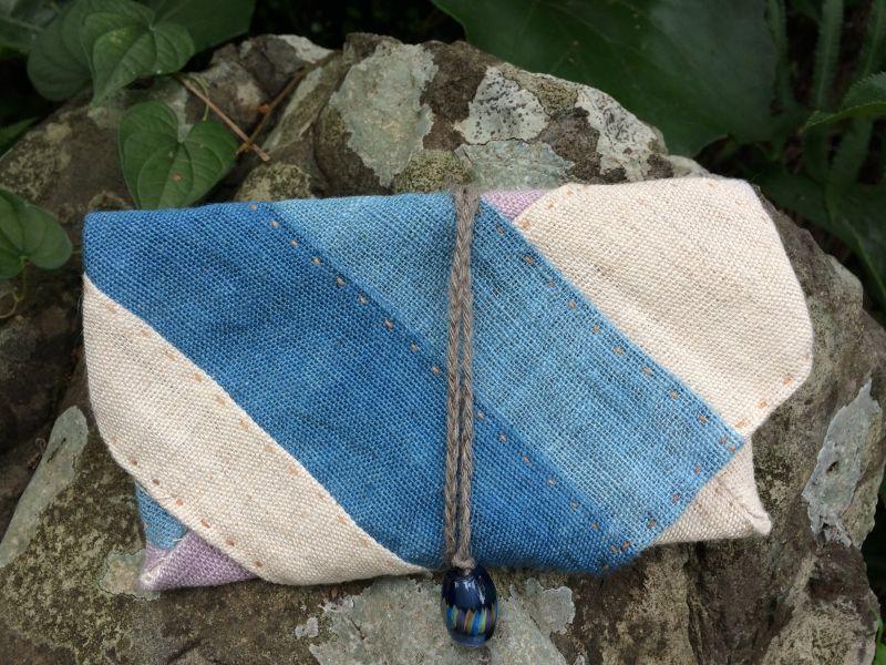 画像1: ヘンプ財布(紐式)