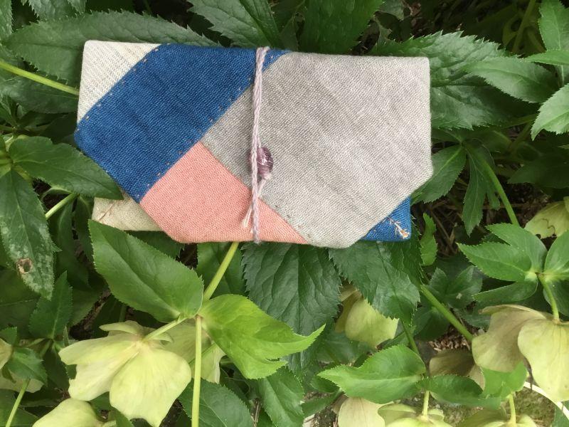 画像1: ヘンプ紐式財布大